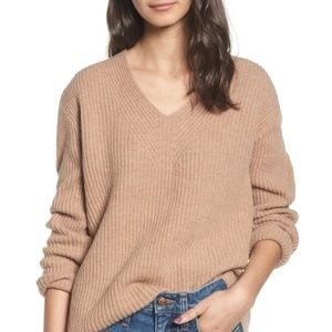 Madewell Woodside Tan Sweater